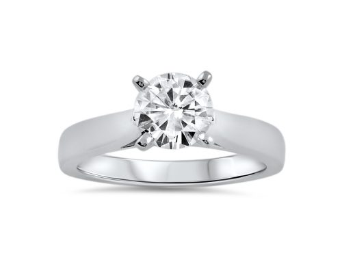 Simple 1.25 ct moissanite ring